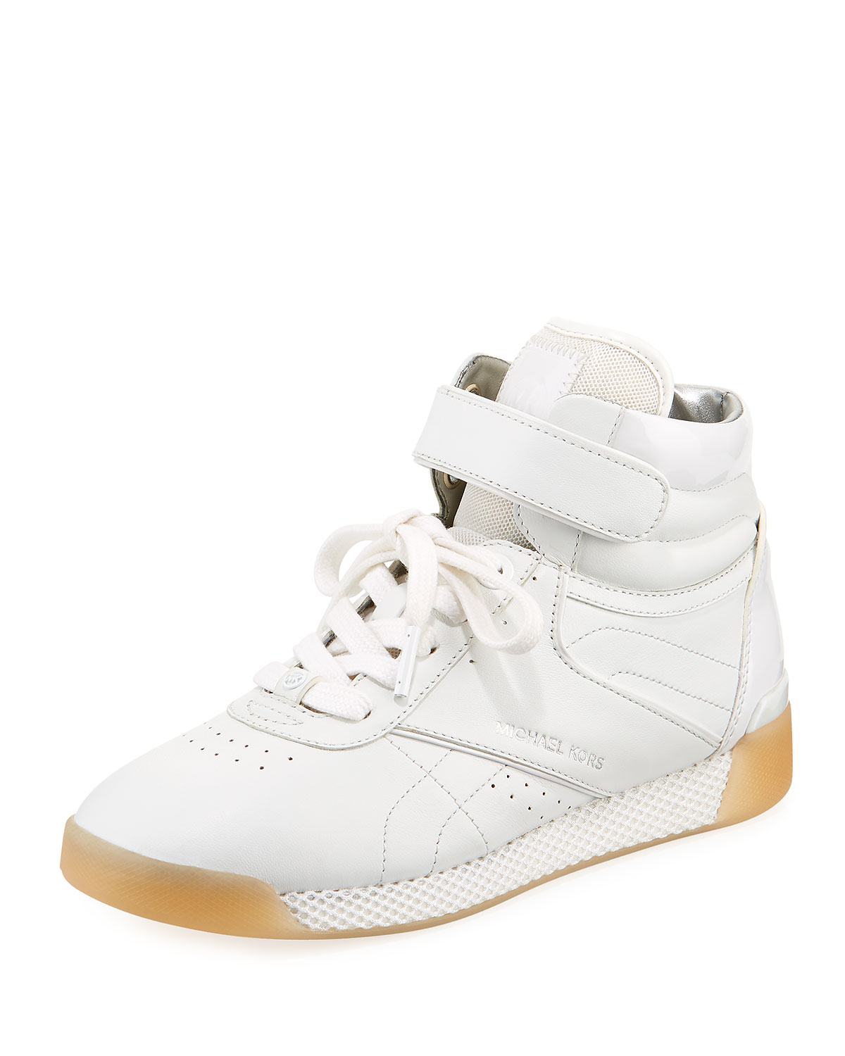 4741d2271a MICHAEL Michael Kors Addie High-Top Leather Sneaker | Neiman Marcus
