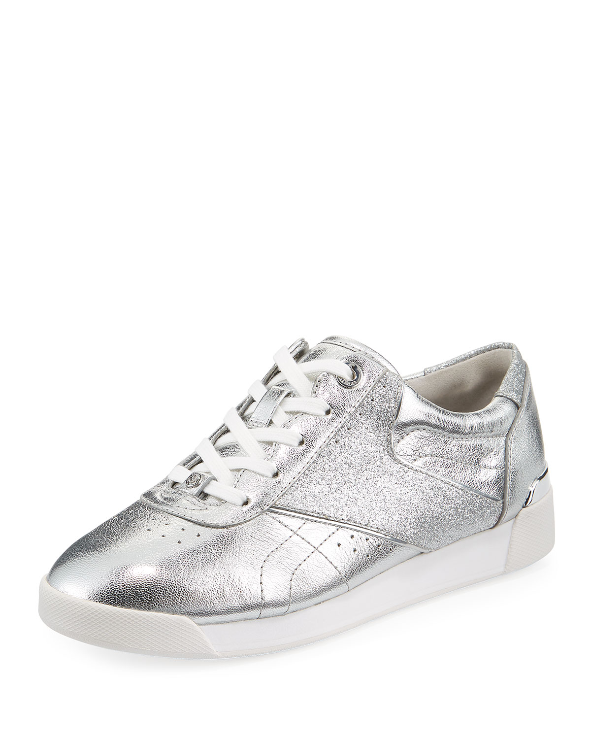 1eb8f6c508 MICHAEL Michael Kors Addie Metallic Lace-Up Sneakers, Silver ...