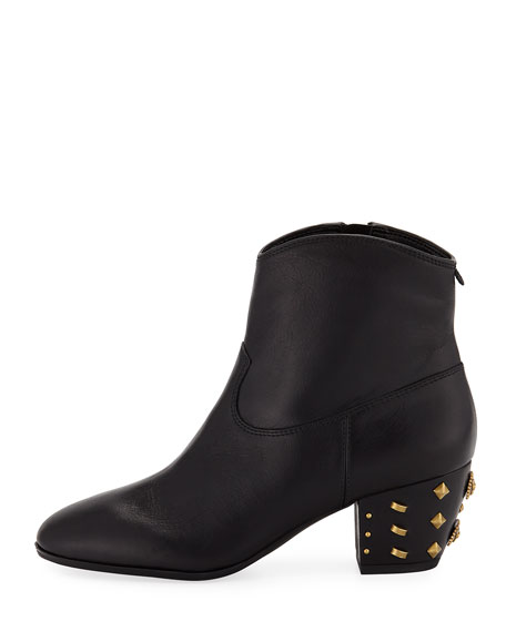 Avery Leather Ankle Booties