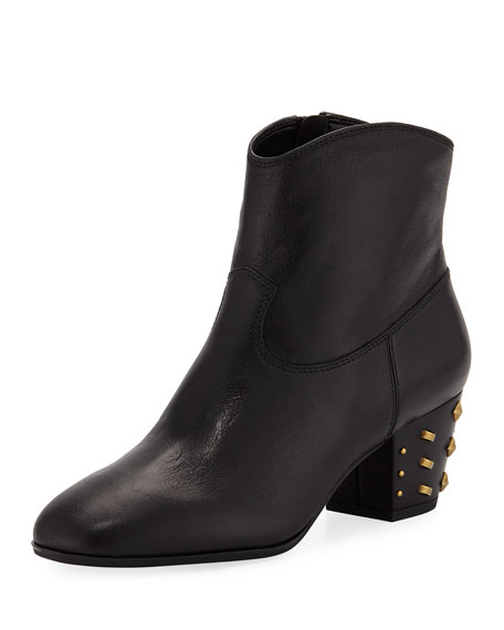 MICHAEL Michael Kors Avery Leather Ankle Booties