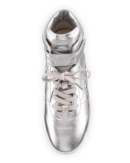 Addie High-Top Metallic Sneaker