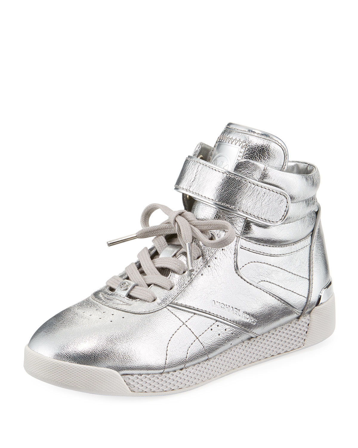 ce4a5398868ba MICHAEL Michael Kors Addie High-Top Metallic Sneaker
