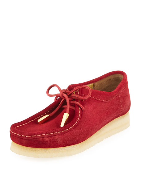 Sycamore Style Women's Suede Moc Wallabee Shoe, Fire