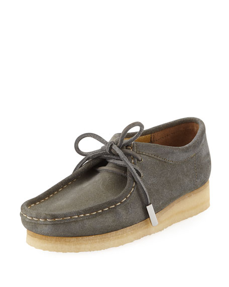 Women's Suede Moc Wallabee Shoe, Smoked Out