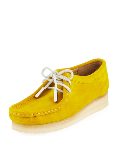 Women's Suede Moc Wallabee Shoe, Speed Yellow