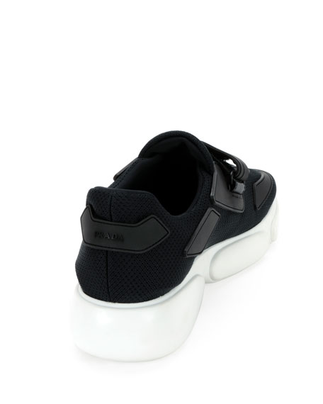 Cloud Bust 40mm Knit Trainer Sneaker with Logo Strap