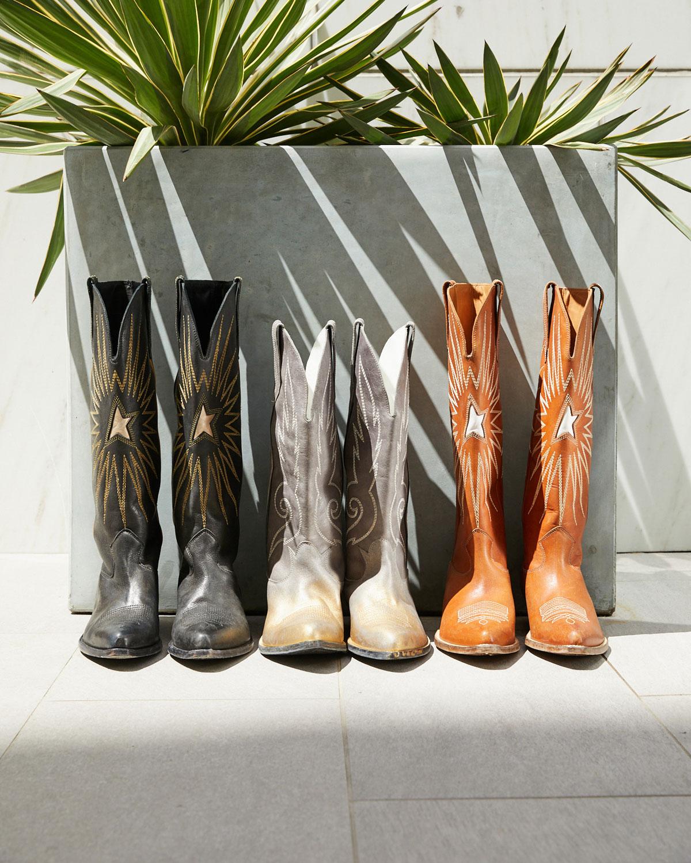 c0b6562dd8d Wish Star Leather Cowboy Knee Boot