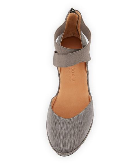 Noa Elastic Cross-Band Pleated Sandals