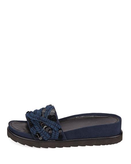 Cava Suede Slide Sandals