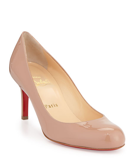 Simple Patent Red Sole Pump