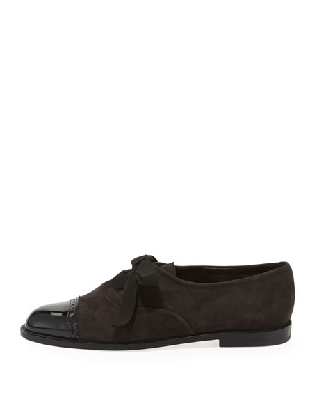 Andare Suede/Patent Oxford Flat