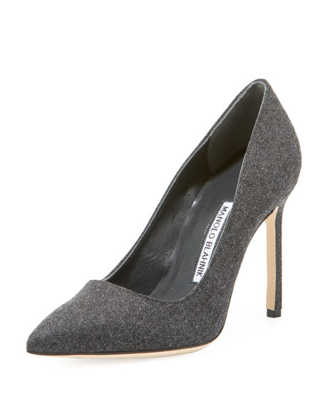 Bb 105mm Flannel Pump by Manolo Blahnik