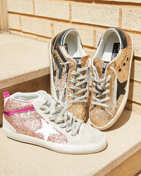 Superstar Leopard Calf Hair Mid-Top Sneakers