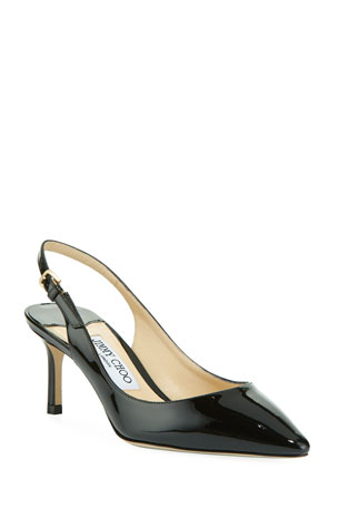Jimmy Choo Erin 60mm Patent Leather Slingback Pumps