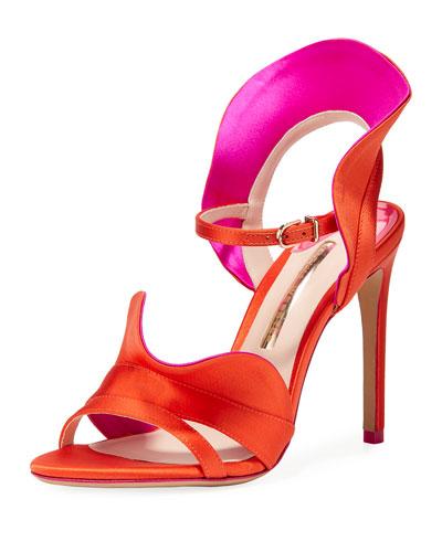 Lucia Colorblock Ruffle Sandal
