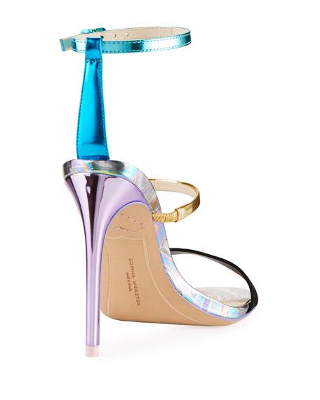 Rosalind Metallic Leather/Suede Sandals
