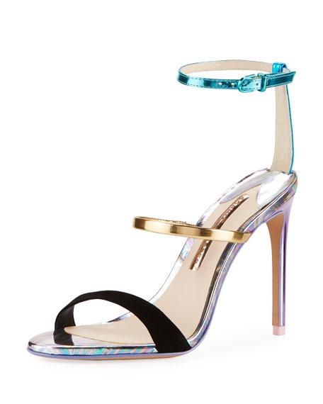 Sophia Webster Rosalind Metallic Leather/Suede Sandals