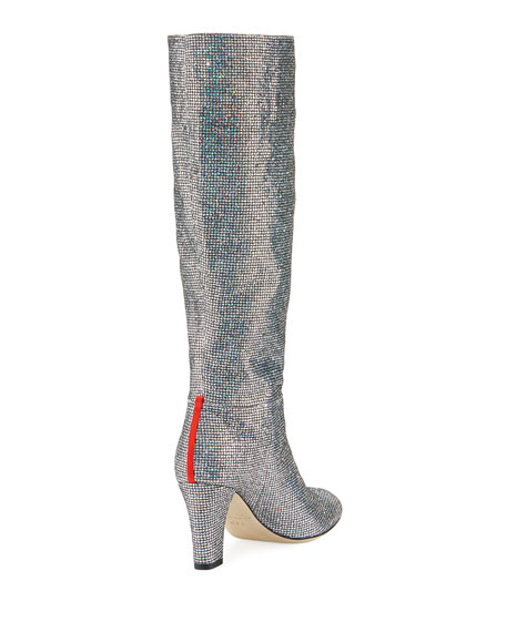 Studio Sparkle Holographic Knee-High Boot