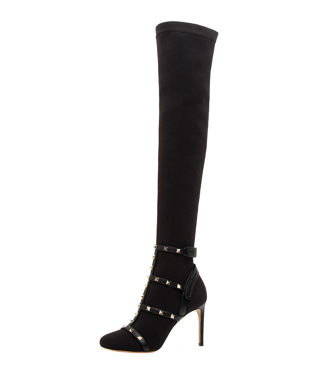 7151c166c82 Valentino Garavani Rockstud BodyTech Over-The-Knee Boot