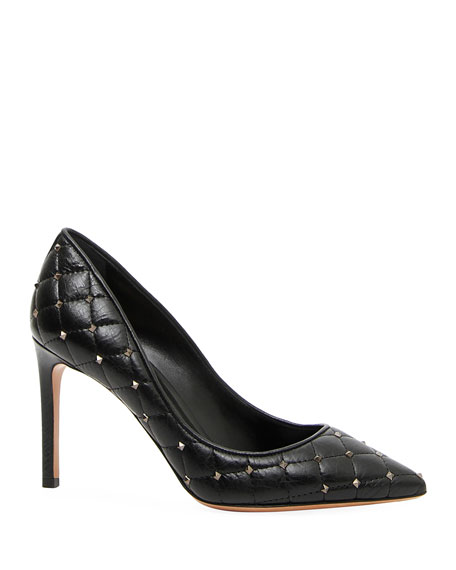 Rockstud Spike Pointed Toe Pump by Valentino