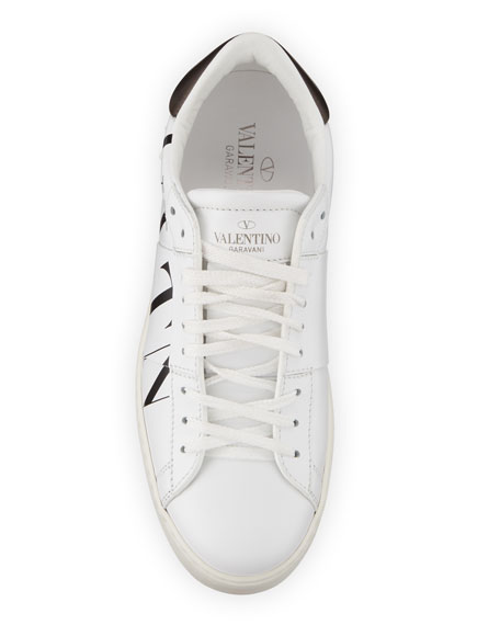 VLTN Open-Laced Leather Low-Top Sneakers