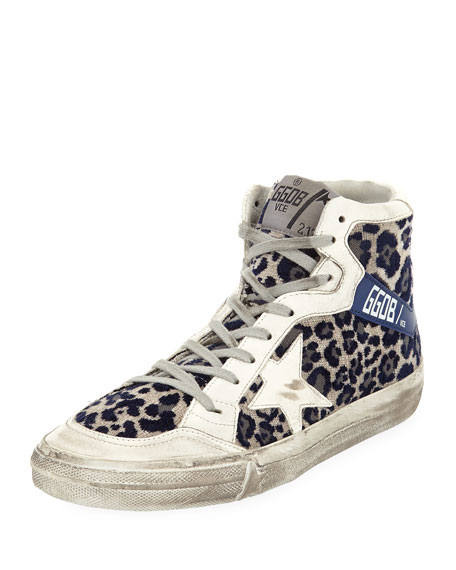 Superstar Leopard-Print High-Top Sneakers