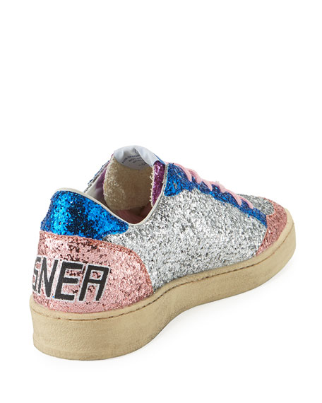 Ball Star Low-Top Glitter Sneakers