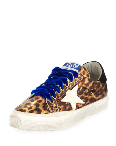 MAY STAR LEOPARD-PRINT LOW-TOP PLATFORM SNEAKERS
