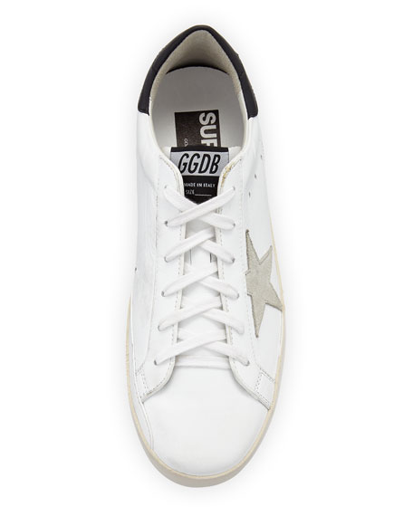 Superstar Leather Low-Top Platform Sneakers with Suede Star