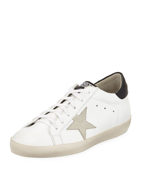 Golden Goose Superstar Leather Low-Top Platform Sneakers with