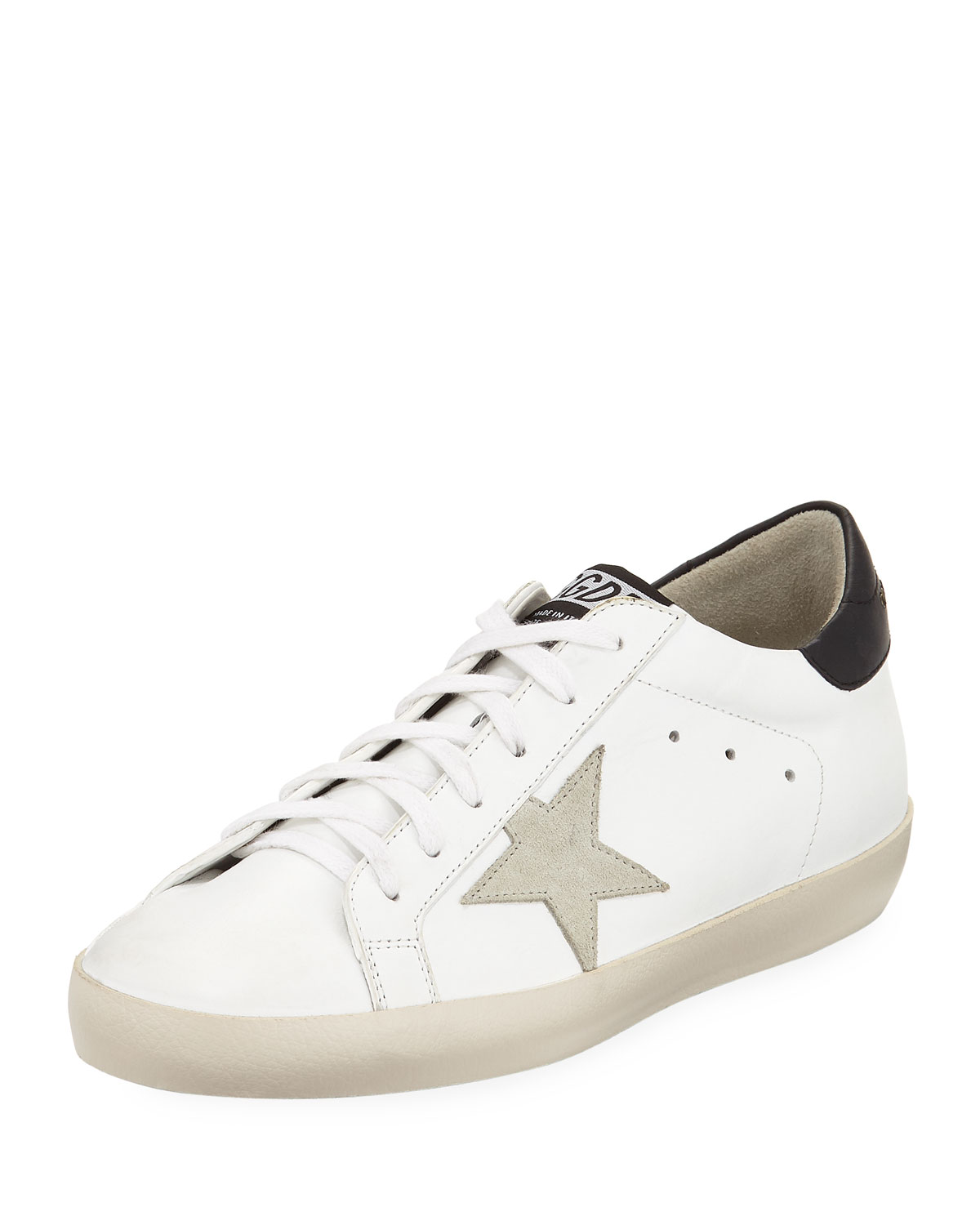 Golden Goose Superstar Leather Low-Top Platform Sneakers with Suede ... beca3308d30e
