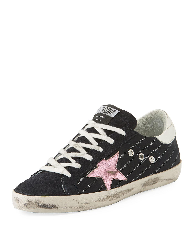 ce37273dfc5 Golden Goose Superstar Low-Top Mixed Sneakers