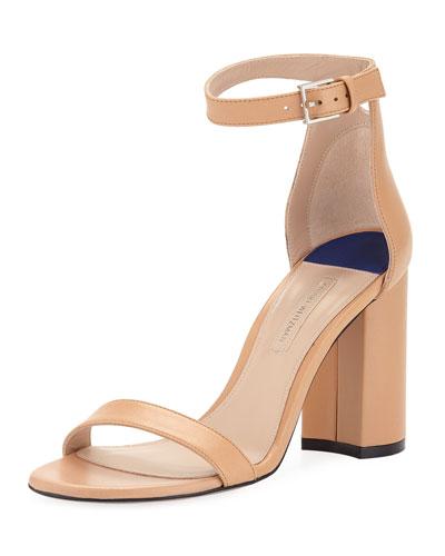 LessNudist 95mm Leather Naked Sandals