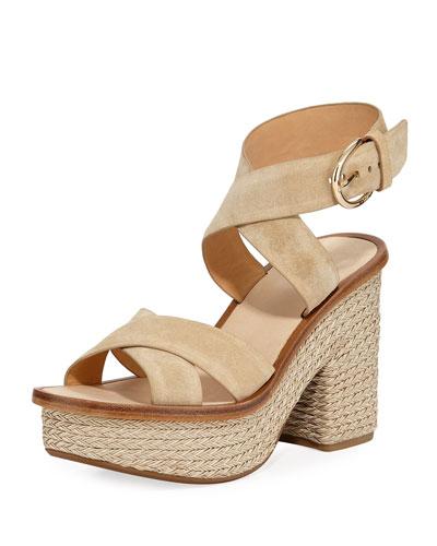 Tanglee Suede Platform Sandals