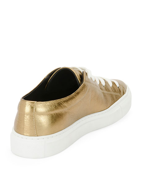 Metallic Logo Platform Low-Top Sneakers