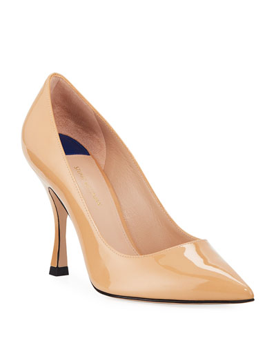 Tippi 95mm Calf Leather Point-Toe Pumps