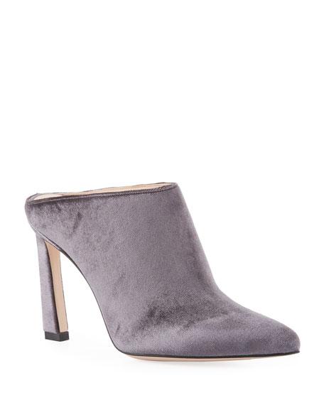 Stuart Weitzman Camila Velvet Slide Mule