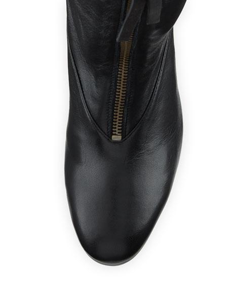 Jett Slouchy Leather Zip Bootie