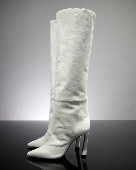 Aces Calf Hair Luxe Knee Boots