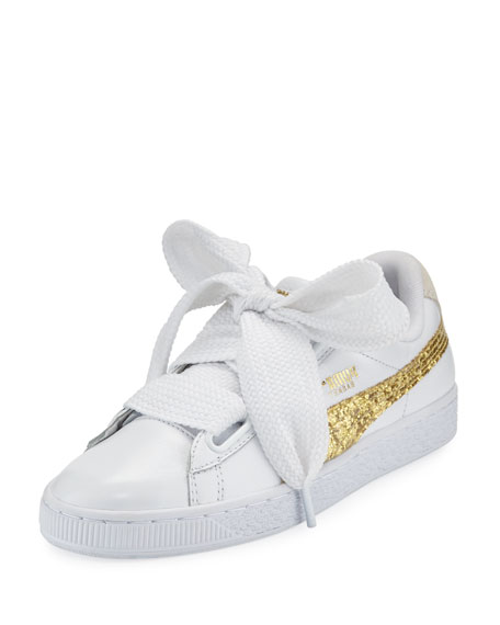 Basket Heart Glitter Sneakers