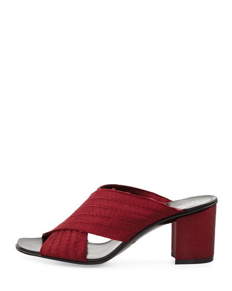 Xail Satin Crisscross Slide Sandal