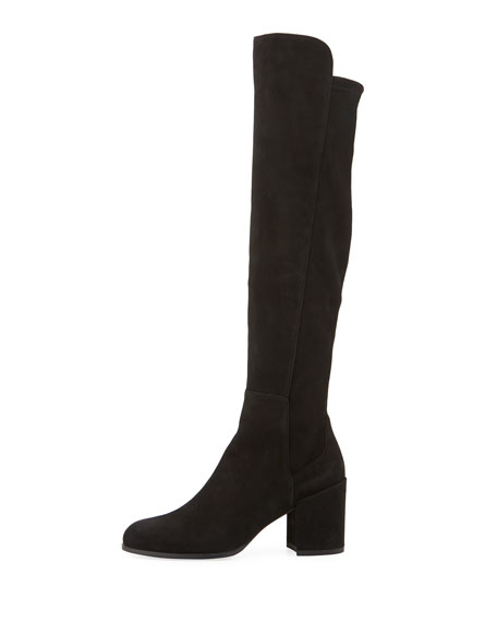 Alljack Suede Block-Heel Knee Boot