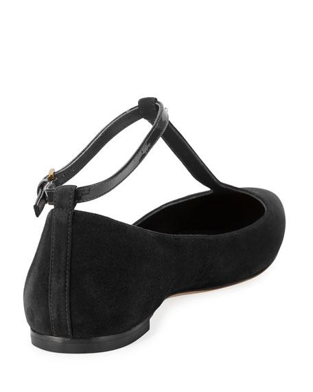 Ashton T-Strap Ankle-Wrap Flat