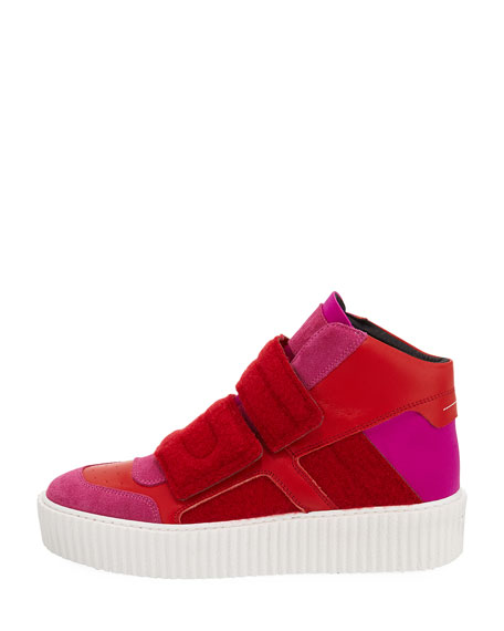 Colorblock Platform High-Top Sneaker