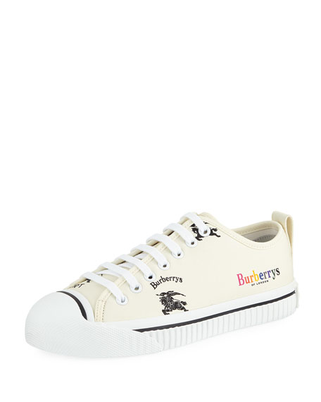 Burberry LF Kingly Arc Canvas Low-Top Sneakers