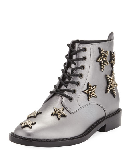 Coach Watts Metallic Star Combat Booties