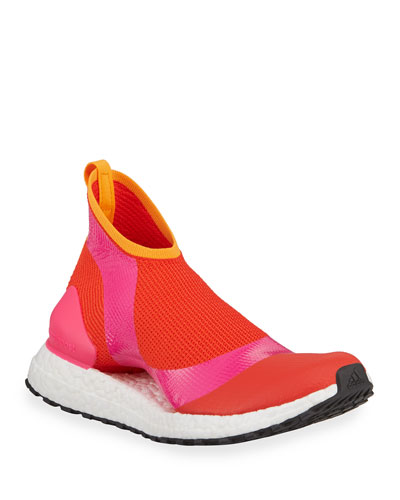 Ultra Boost X Fabric Sneakers, Pink/Orange