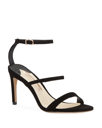 Rosalind Strappy Suede Mid-Heel Sandal