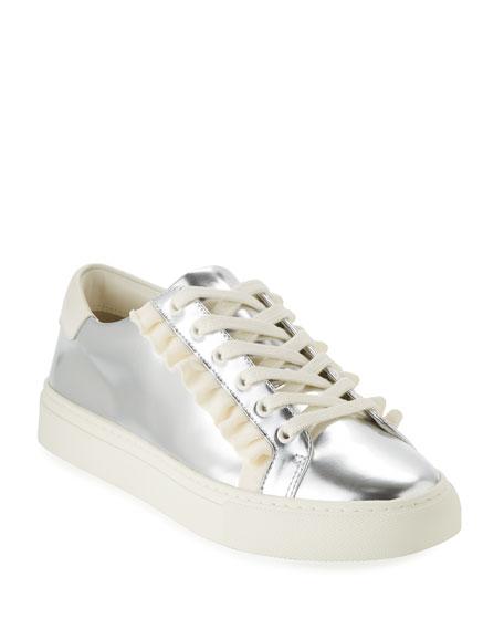 Ruffle Shiny Ruffle Platform Low-Top Sneakers