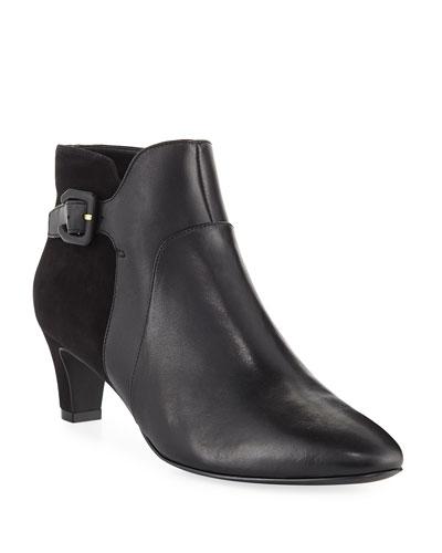 Sylvia Grand Waterproof Leather/Suede Booties